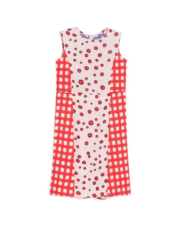 Marni SLEEVELESS DRESS IN SILK, VISCOSE AND RAMIE Woman - 1