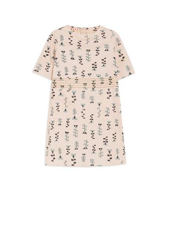 Marni SHORT-SLEEVE DRESS IN ALLOVER VINE  PRINT SILK AND VISCOSE  Woman