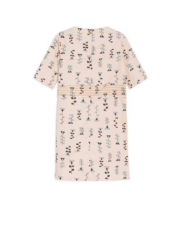 Marni SHORT-SLEEVE DRESS IN ALLOVER VINE  PRINT SILK AND VISCOSE  Woman - 3