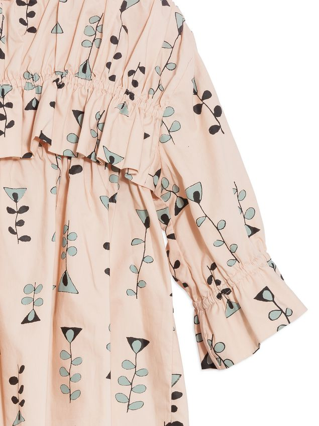 Marni COTTON POPELINE SHIRT WITH ALLOVER VINE PRINT AND VOLANT Woman - 4