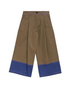Marni COLOR BLOCK PANTS IN COTTON GABARDINE Woman