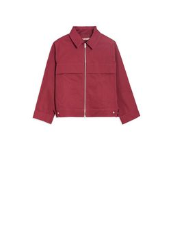 Marni Long-sleeves bordeaux cotton gabardine jacket  Woman
