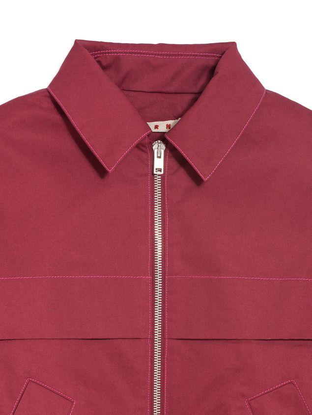 Marni Long-sleeves bordeaux cotton gabardine jacket  Woman - 4