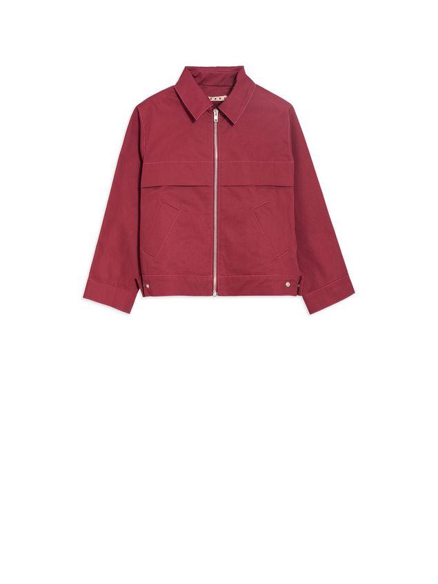 Marni Long-sleeves bordeaux cotton gabardine jacket  Woman - 1