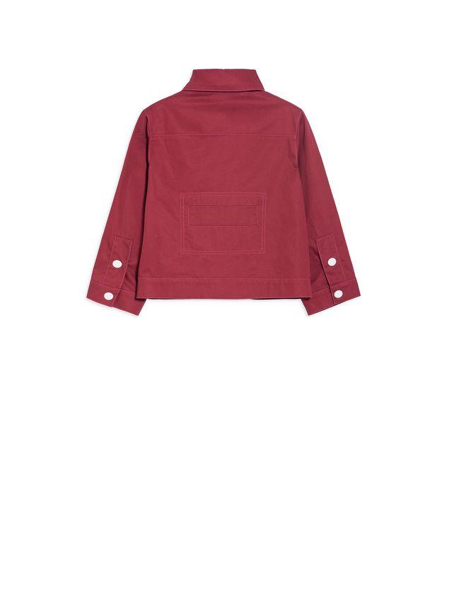 Marni Long-sleeves bordeaux cotton gabardine jacket  Woman - 3