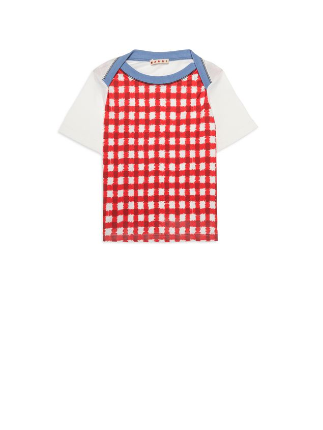 Marni Raglan t-shirt with Ingrid print on the front Woman - 1