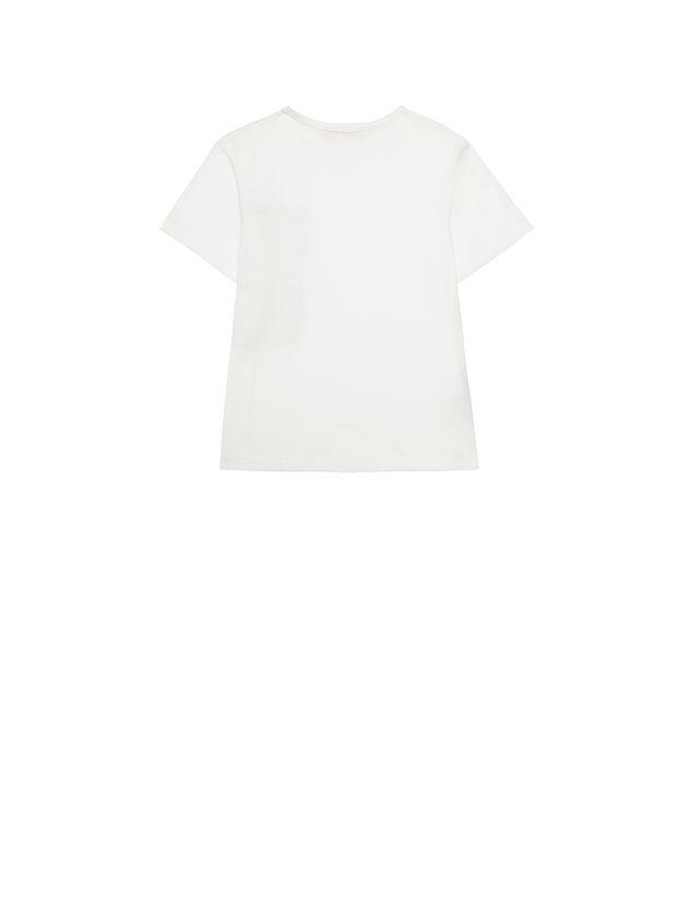 Marni Cotton t-shirt with Vine print pocket  Woman