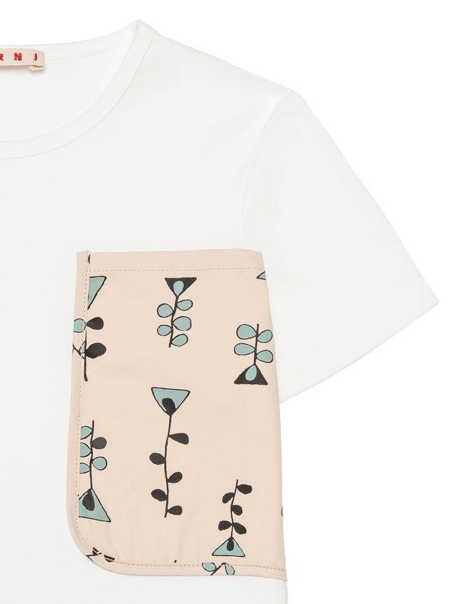 Marni Cotton t-shirt with Vine print pocket  Woman - 4