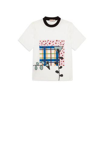 Marni T-shirt in cotone con stampa sul davanti Donna