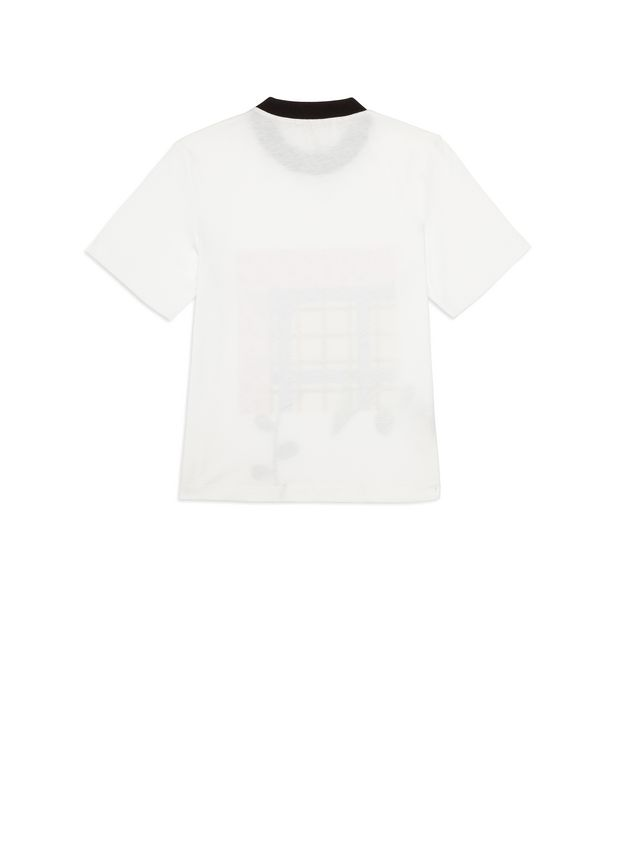 Marni Cotton T-shirt with print on the front Woman