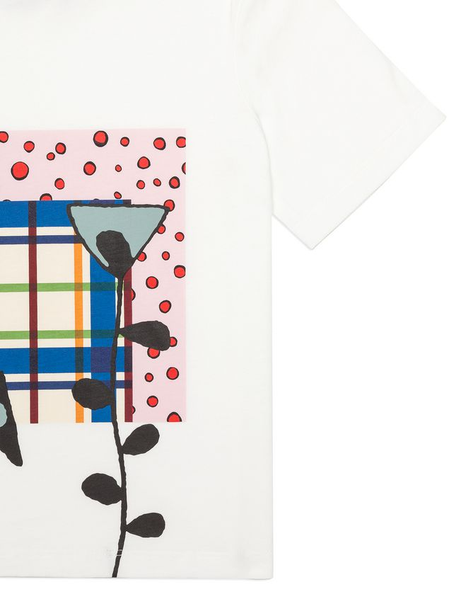 Marni Cotton T-shirt with print on the front Woman - 4