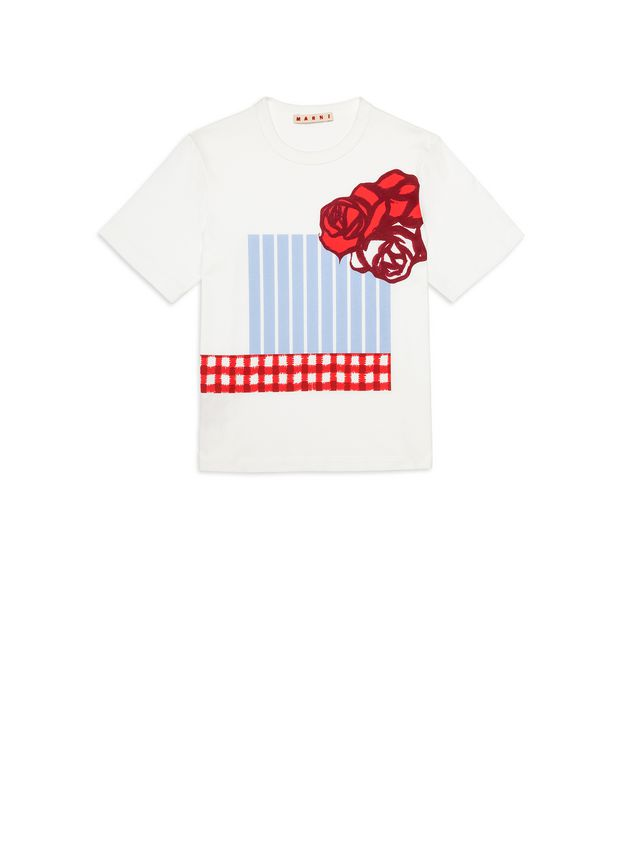Marni Cotton T-shirt with print on the front Woman - 1