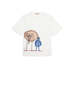Marni Cotton T-shirt with Woolly Friends print Woman