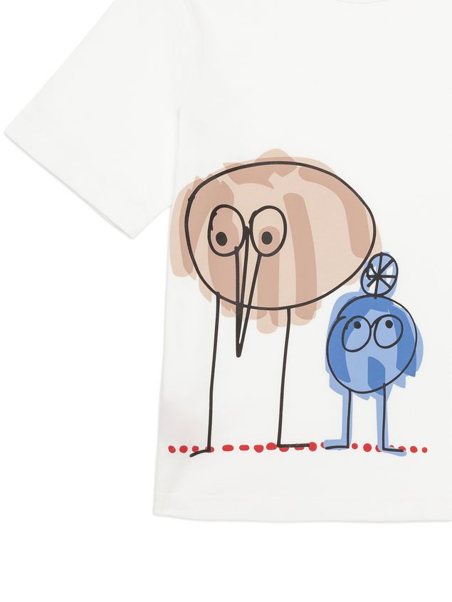 Marni Cotton T-shirt with Woolly Friends print Woman - 2