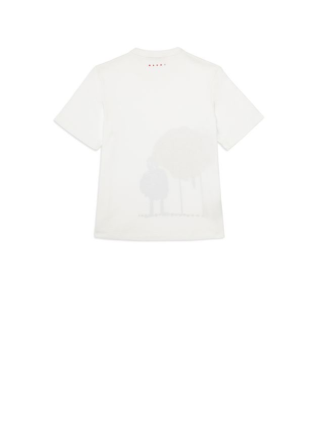 Marni Cotton T-shirt with Woolly Friends print Woman - 3