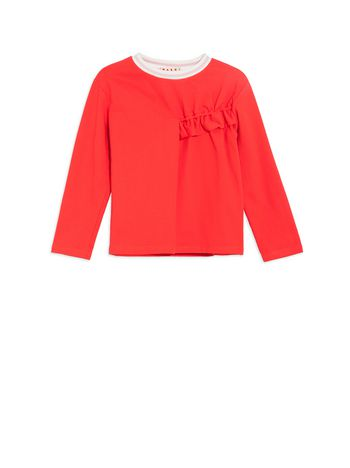 Marni Cotton sweatshirt with ruches Woman