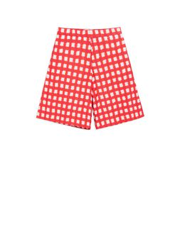 Marni Short pants in allover Ingrid printed cotton popeline Woman