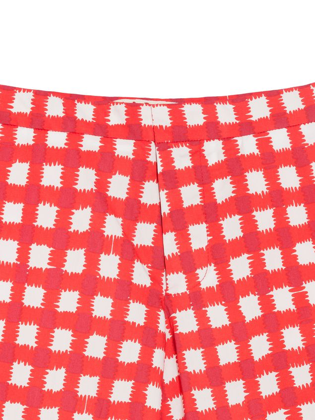 Marni Short pants in allover Ingrid printed cotton popeline Woman - 4