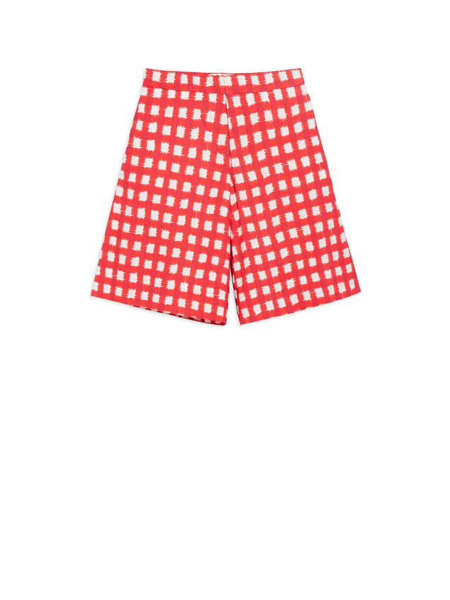 Marni Short pants in allover Ingrid printed cotton popeline Woman - 1