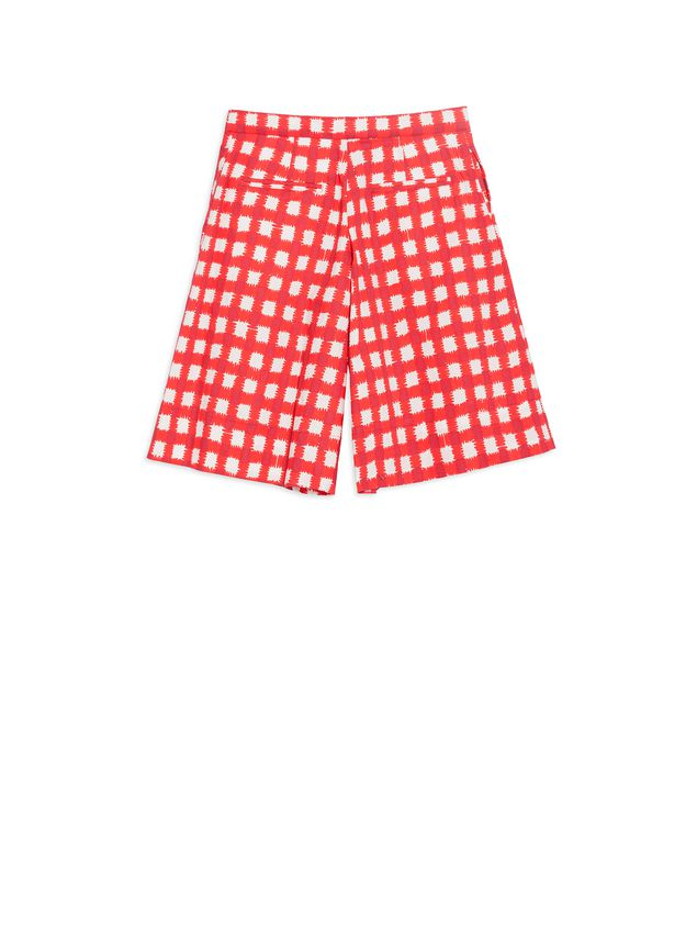 Marni Short pants in allover Ingrid printed cotton popeline Woman - 3