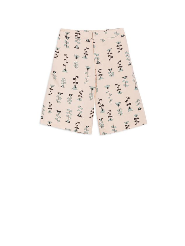 Marni Short pants in allover Vine printed cotton popeline Woman - 1