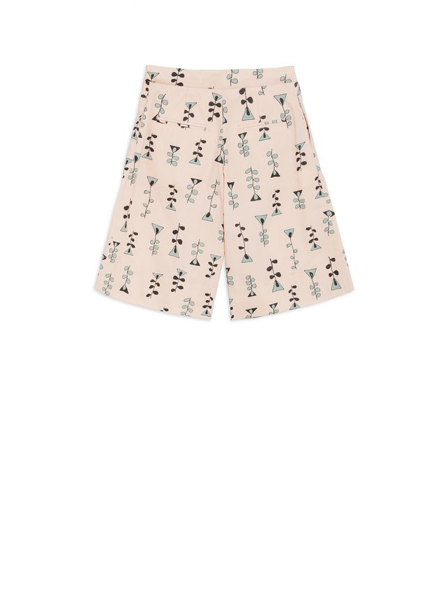 Marni Short pants in allover Vine printed cotton popeline Woman - 3