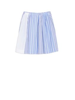 Marni Striped cotton popeline skirt Woman