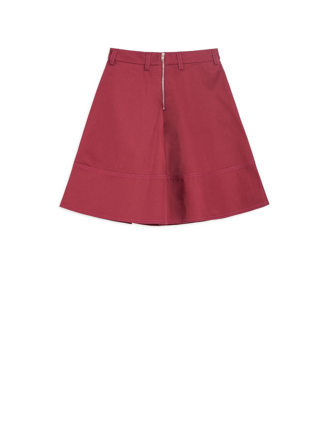 Marni Cotton gabardine skirt with pleats  Woman