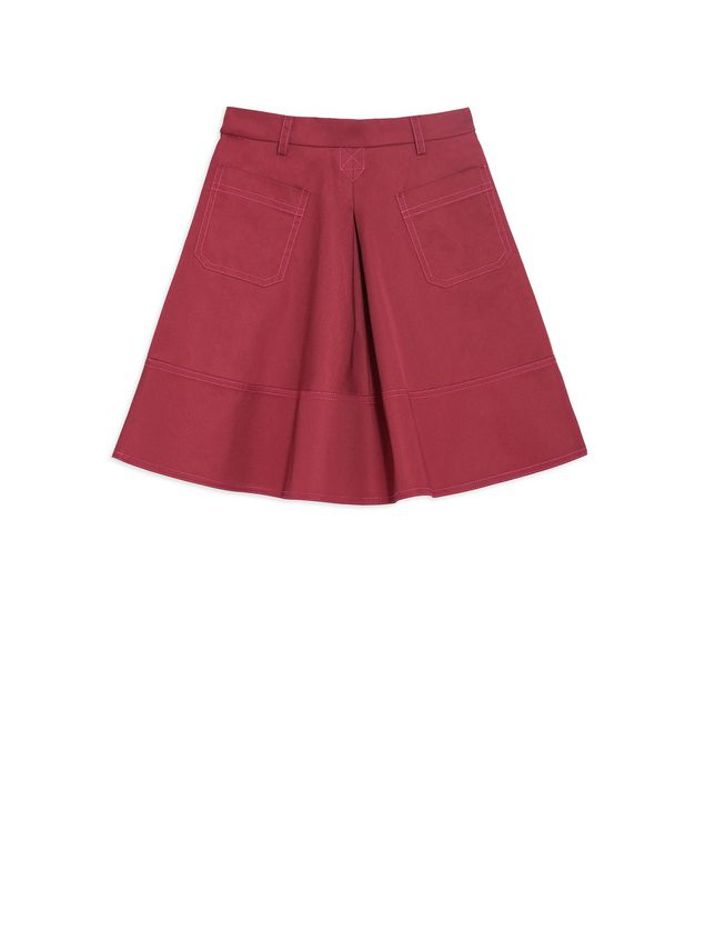 Marni Cotton gabardine skirt with pleats  Woman - 1