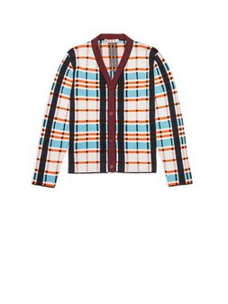 Marni Plaid cardigan in cotton Woman