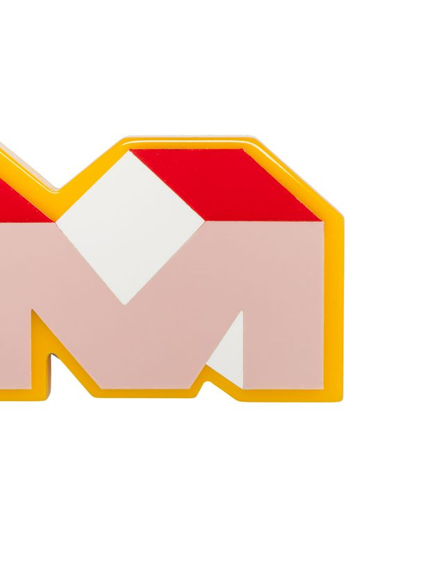 Marni M logo brooch in synthetic resin Woman - 2