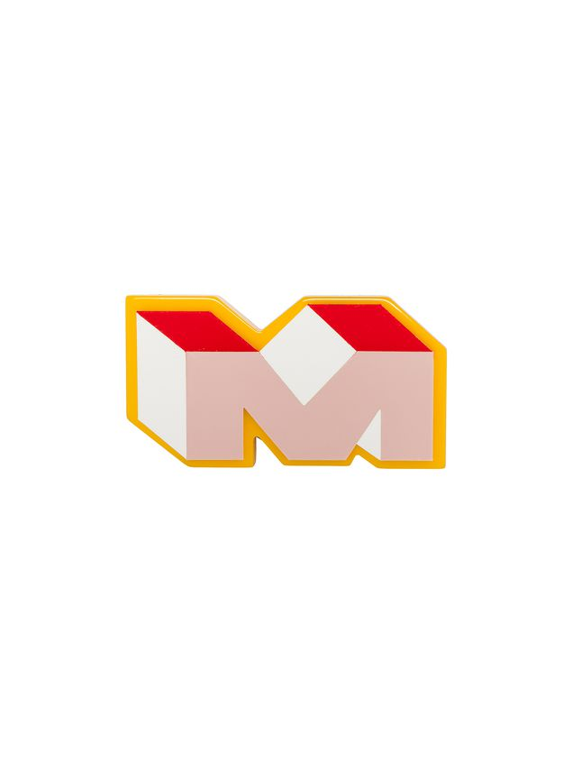 Marni M logo brooch in synthetic resin Woman - 1