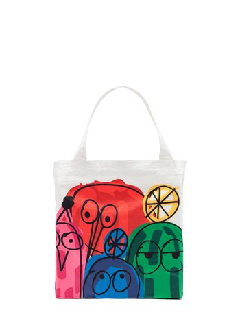 Marni Bag in cotton Woolly Friends print Woman