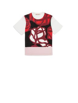 Marni Cotton T-shirt with Roma Print Woman