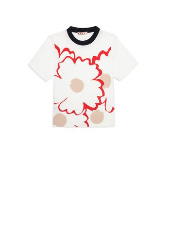 Marni Cotton T-shirt with print Woman