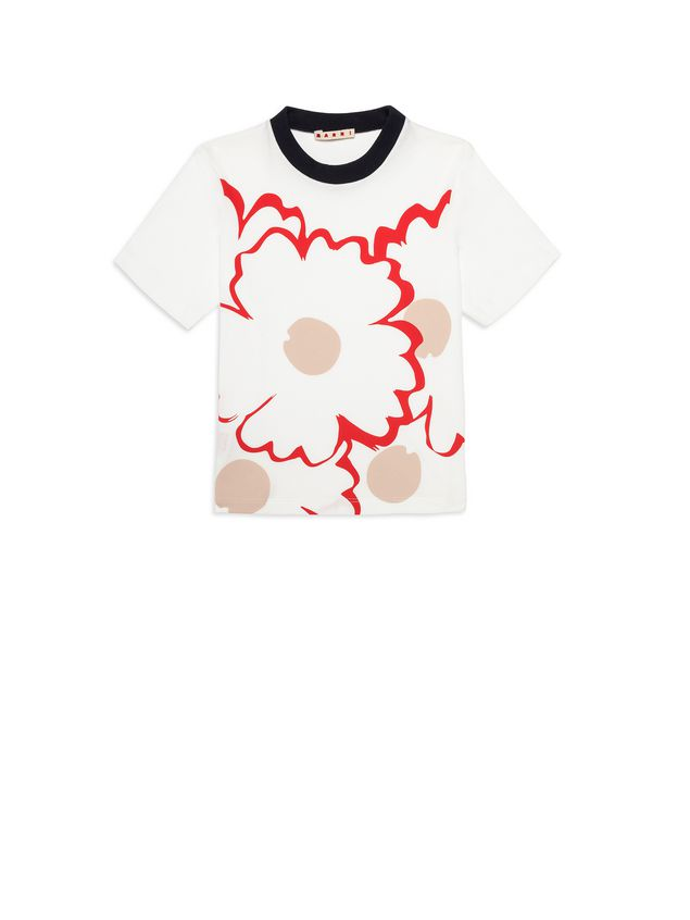 Marni Cotton T-shirt with print Woman - 1
