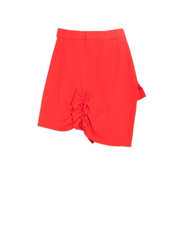 Marni Cotton skirt with ruches Woman