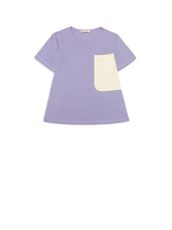 Marni  Cotton t-shirt with contrasting color pocket Woman