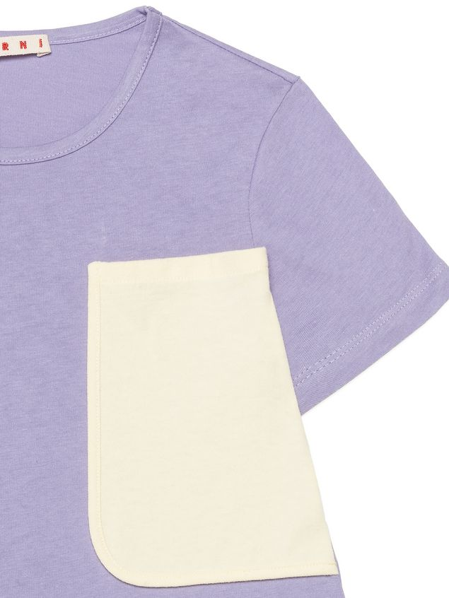 Marni  Cotton t-shirt with contrasting color pocket Woman - 4