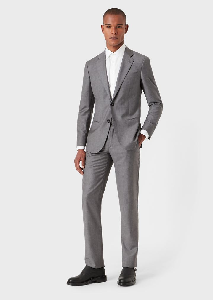 d9110ebd069 Slim fit Soho line half-canvas suit in wool and cashmere gabardine ...