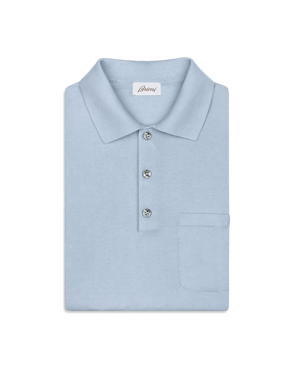 BRIONI Light Blue Polo Shirt T-Shirts & Polos [*** pickupInStoreShippingNotGuaranteed_info ***] e