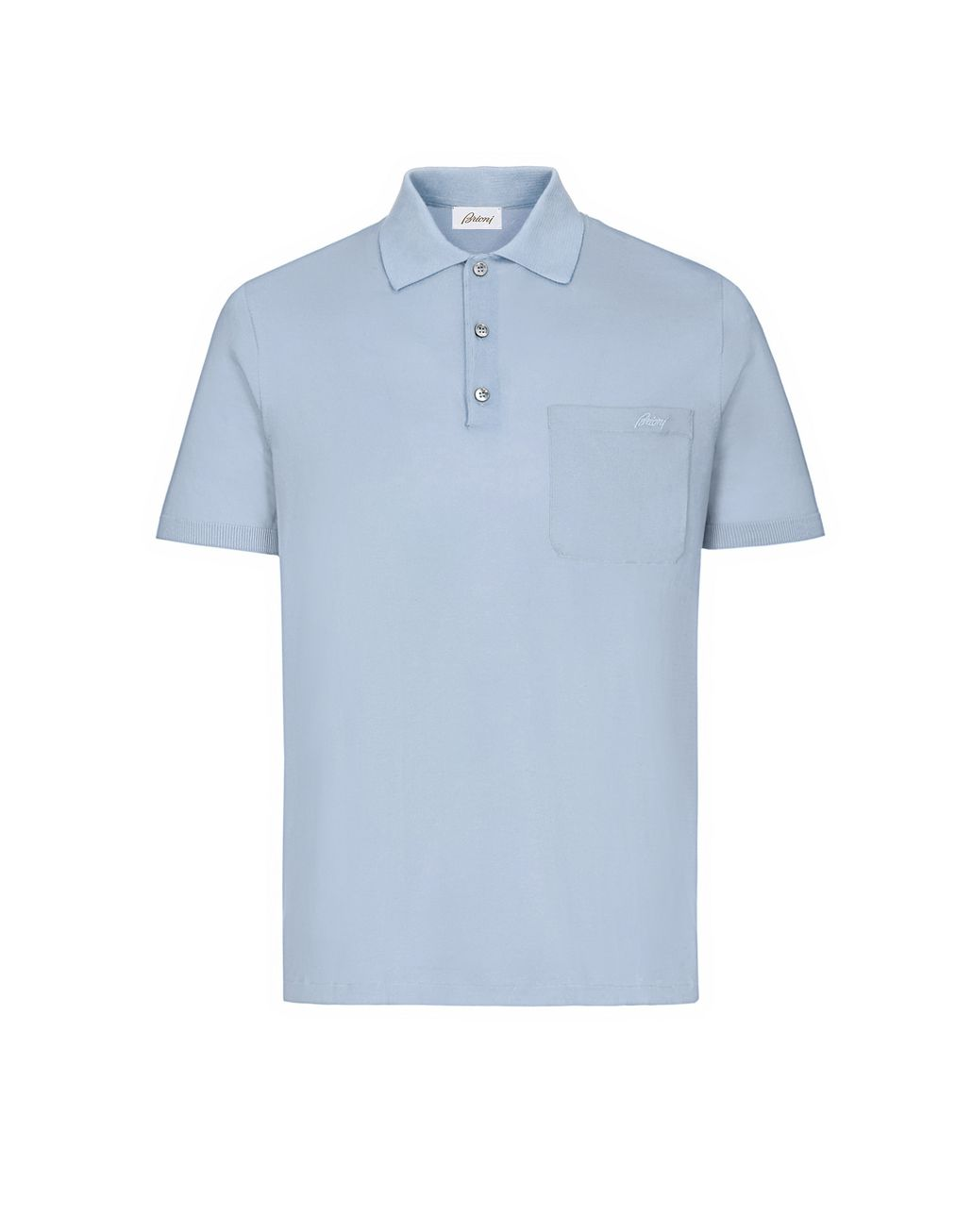 BRIONI Light Blue Polo Shirt T-Shirts & Polos Man f
