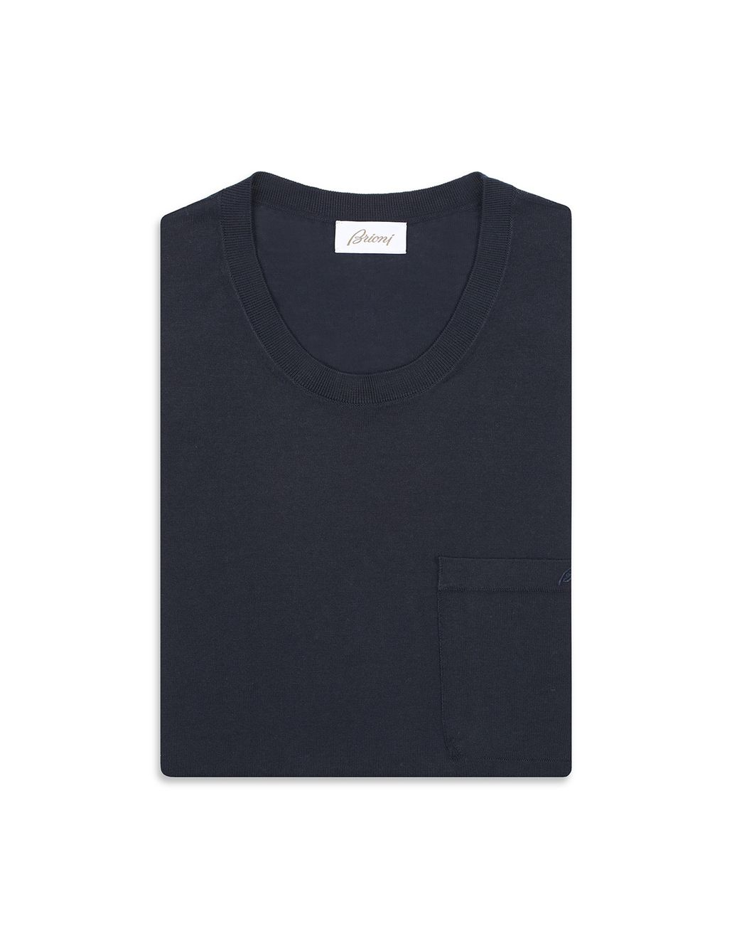 BRIONI Тёмно-синяя футболка Футболки и поло [*** pickupInStoreShippingNotGuaranteed_info ***] e