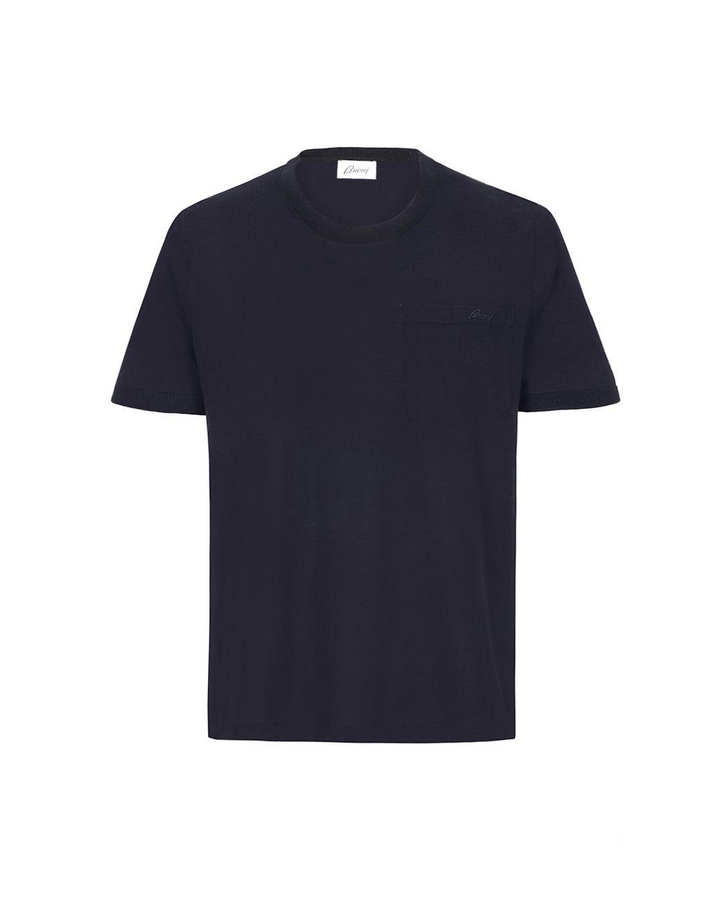BRIONI Navy Blue T-Shirt T-Shirts & Polos [*** pickupInStoreShippingNotGuaranteed_info ***] f