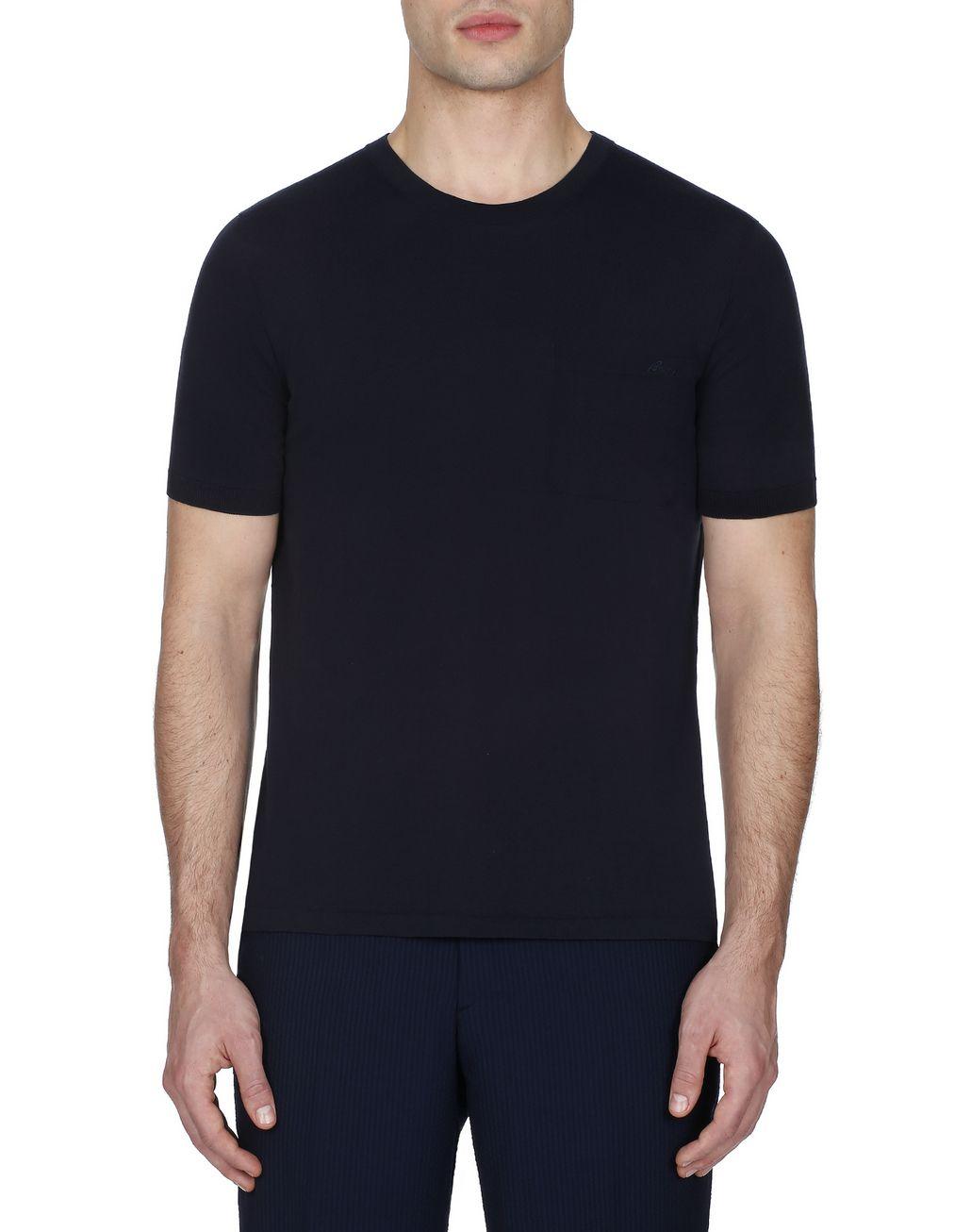 BRIONI Navy Blue T-Shirt T-Shirts & Polos [*** pickupInStoreShippingNotGuaranteed_info ***] r