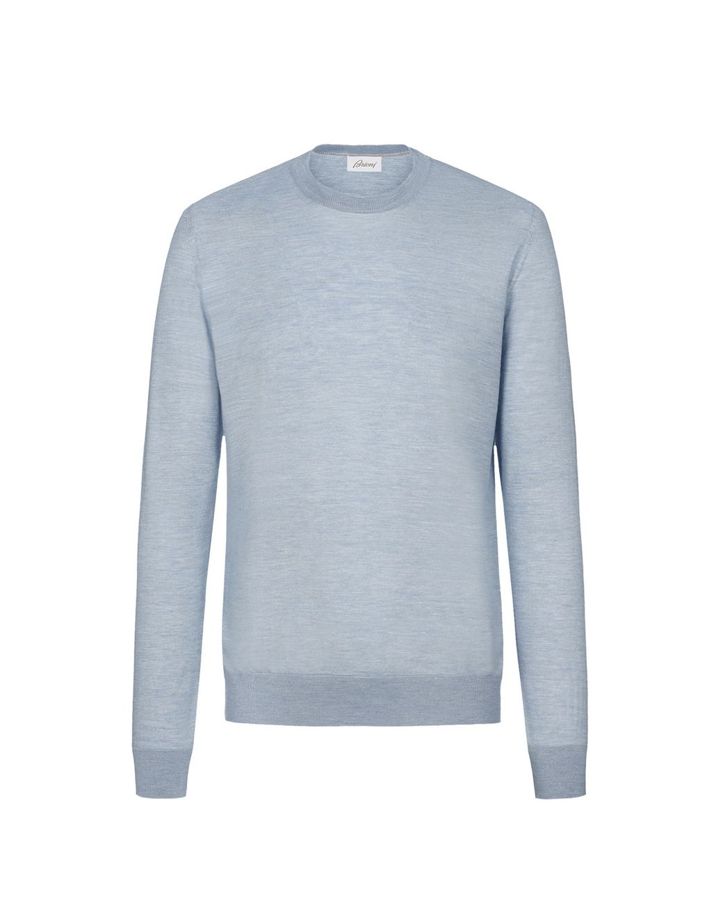 BRIONI Light Blue Crew Neck Sweater Knitwear Man f