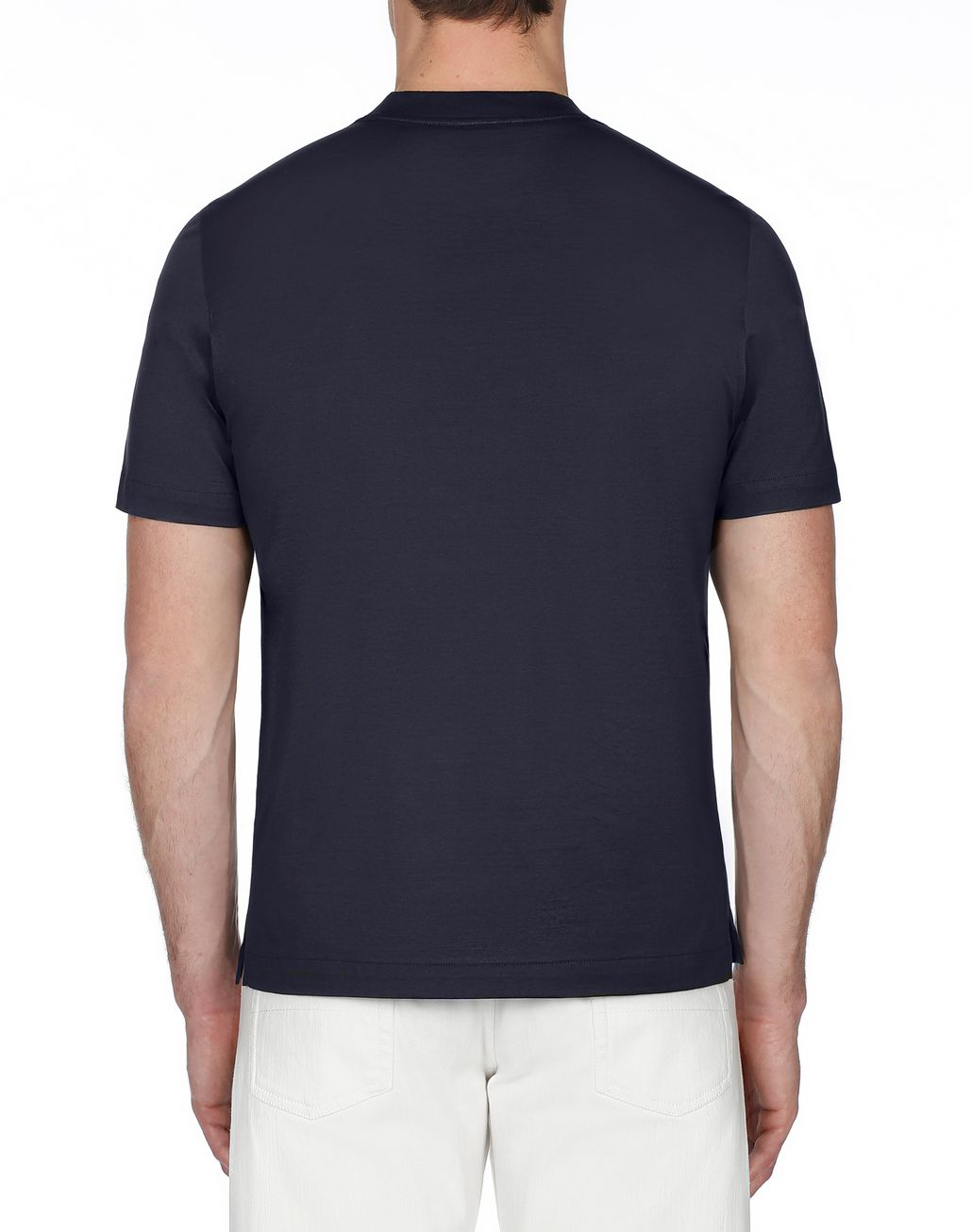 BRIONI Navy Blue Crew Neck T-Shirt T-Shirts & Polos [*** pickupInStoreShippingNotGuaranteed_info ***] d