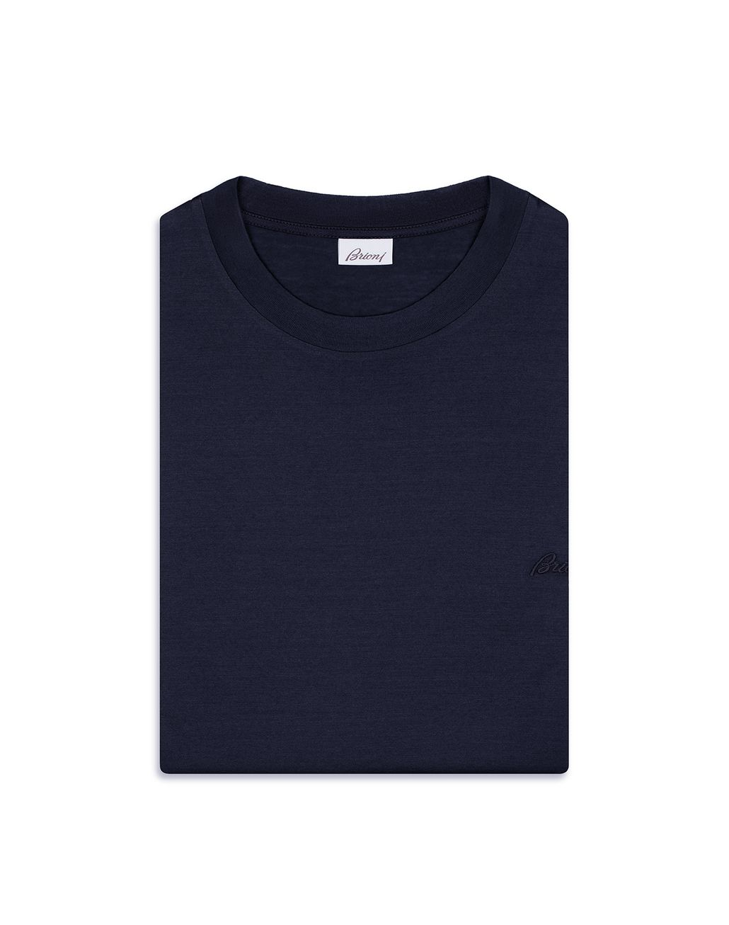 BRIONI Navy Blue Crew Neck T-Shirt T-Shirts & Polos [*** pickupInStoreShippingNotGuaranteed_info ***] e