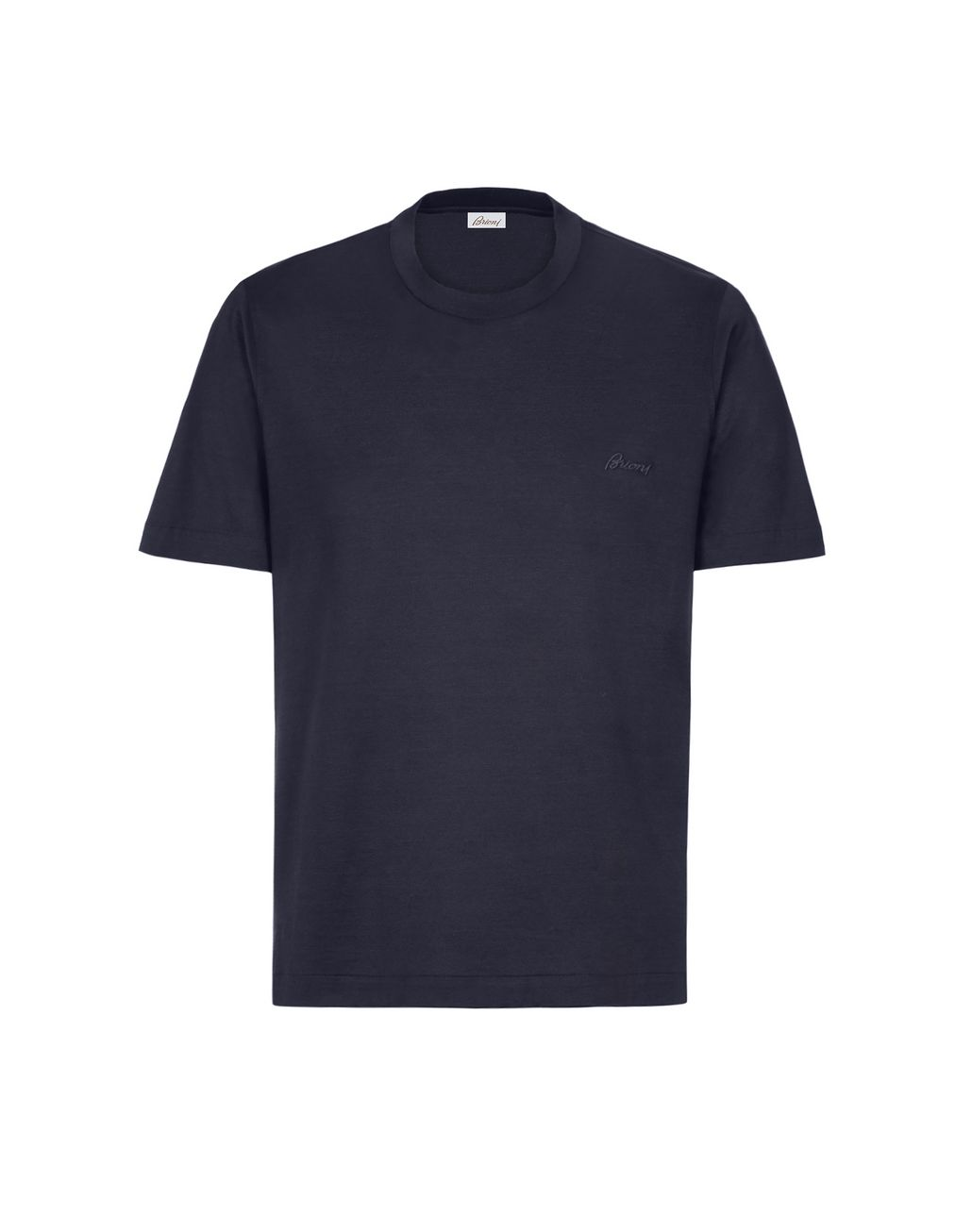 BRIONI Navy Blue Crew Neck T-Shirt T-Shirts & Polos [*** pickupInStoreShippingNotGuaranteed_info ***] f