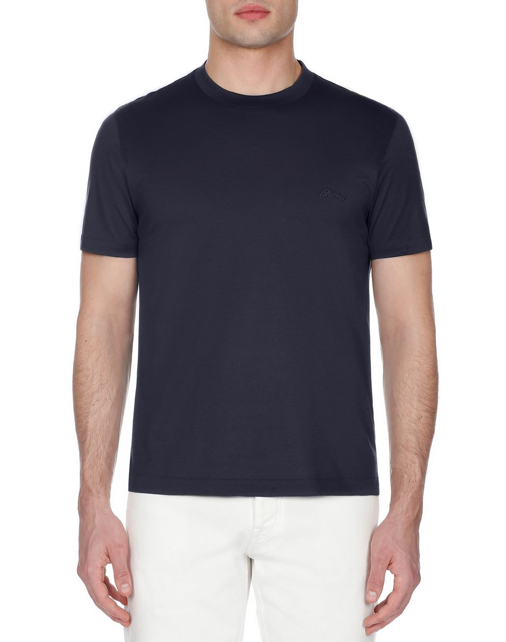 BRIONI Navy Blue Crew Neck T-Shirt T-Shirts & Polos [*** pickupInStoreShippingNotGuaranteed_info ***] r
